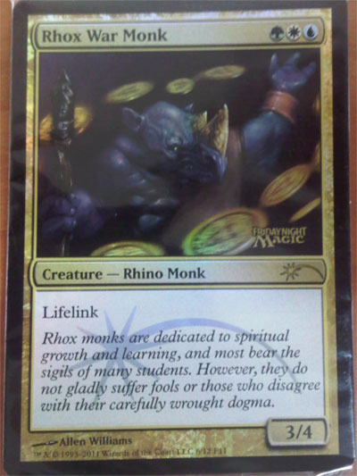 June FNM Promo - Rhox War Monk